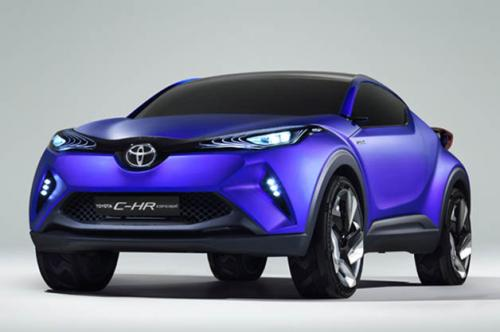 Toyota C-HR hybrid crossover coupe…