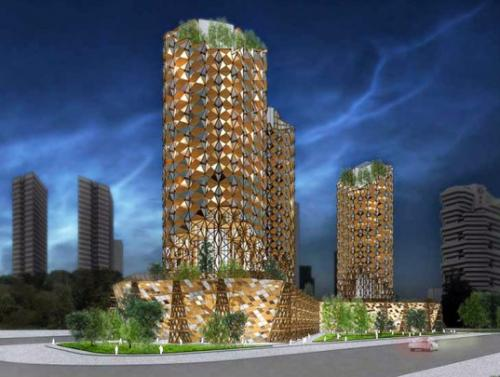 Vertical Bamboo Village: An Eco-Friendly…