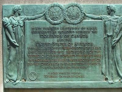 The Rush-Bagot Treaty that demilitarized the Great Lakes is 200 years old today
