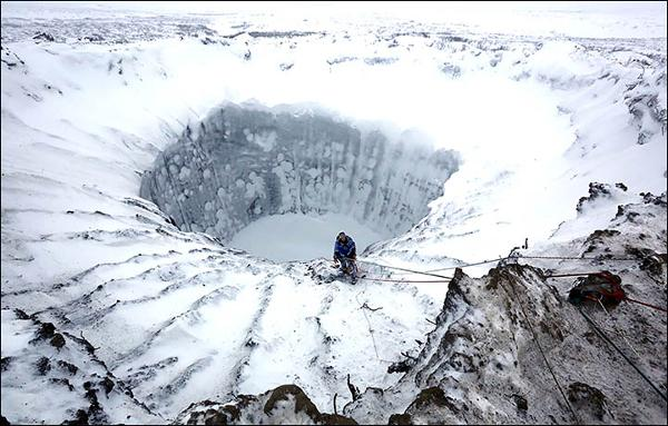 Extraordinary Photos From Inside the Siberian Methane Blowhole