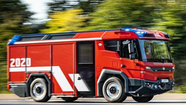 photo of Three fire trucks with Volvo Penta electric drivelines heading to Berlin, Amsterdam and Dubai to begin customer testing image