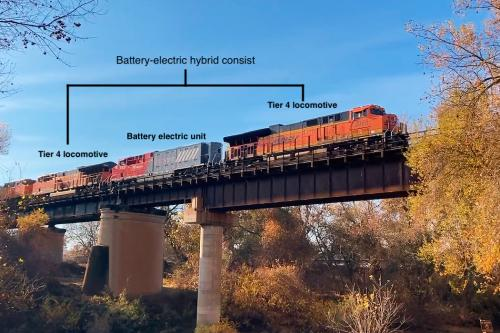 Wabtec's battery-electric locomotive lowered full train fuel consumption by more than 11% in BNSF California pilot