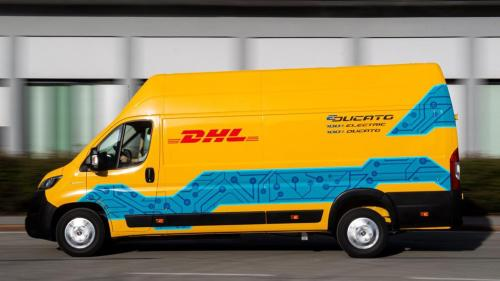photo of DHL Express purchases 100 Fiat E-Ducato electric vans; 14,000 e-vehicles in delivery fleet across Europe by 2030 image
