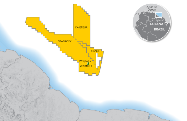 ExxonMobil announces significant oil discovery at Whiptail, offshore Guyana