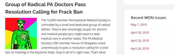 In Some Pennsylvania Pro-Fracking Corners, Name-calling, False Claims, and Swastika-Laden Images Circulate