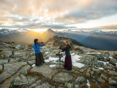 photo image A mountain range is a concert hall for this musical duo