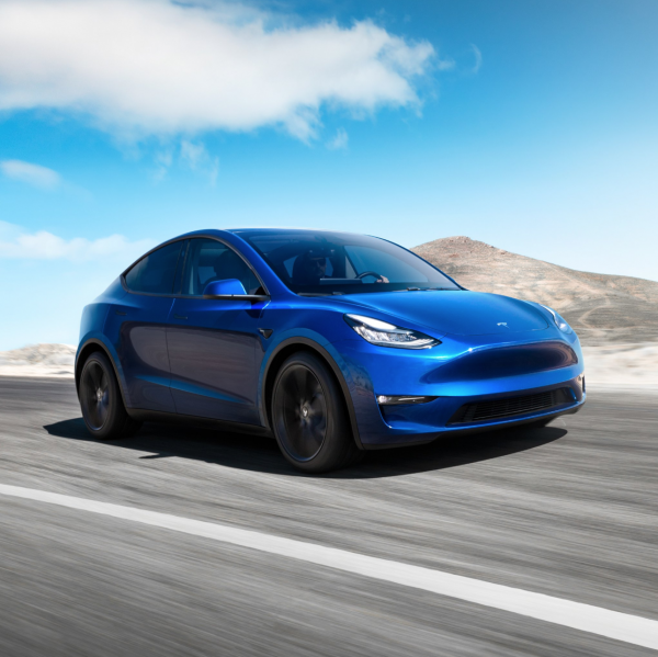 "photo image Tesla Brings ""S3XY"" To Life With Model Y Launch"